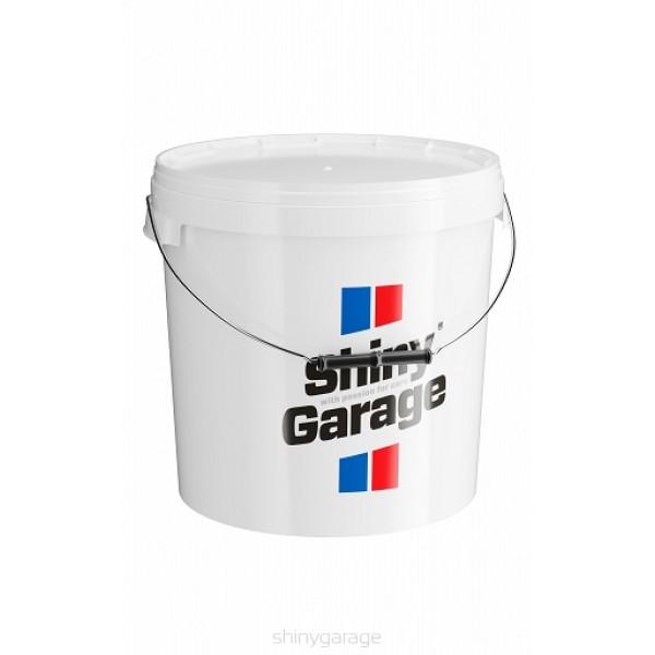 Shiny Garage bucklet 20L white - umývacie vedro biele so separátorom